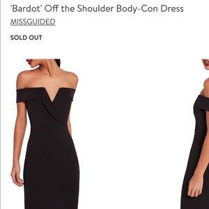 Bardot Off The Shoulder Body Con Dress